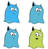 Ejemplo de otros monstruos ilustración del vector