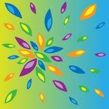 Ejemplo de pétalos coloreados Imágenes de archivo libres de regalías