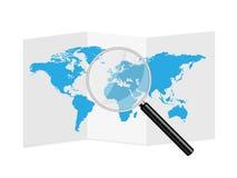 Ejemplo de papel del mapa del mundo Foto de archivo