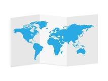 Ejemplo de papel del mapa del mundo Imagen de archivo libre de regalías