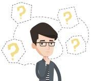 Ejemplo de pensamiento del vector del hombre de negocios joven libre illustration