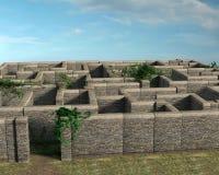 Ejemplo de piedra de Maze Entrance o de la salida stock de ilustración