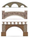 Ejemplo de piedra del vector de la acción del puente Foto de archivo libre de regalías
