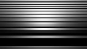 Ejemplo de plata abstracto de aluminio del fondo 3d de la raya, barras horizontales con el brillo, ordenador a rendir almacen de metraje de vídeo