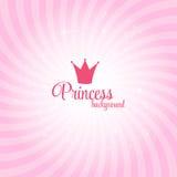 Ejemplo de princesa Abstract Background Vector Imágenes de archivo libres de regalías