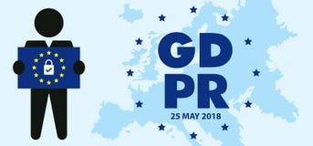 Ejemplo de regla del concepto de la protección de datos general GDPR - 25 de mayo de 2018 Imágenes de archivo libres de regalías