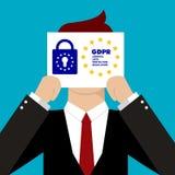 Ejemplo de regla del concepto de la protección de datos general GDPR - 25 de mayo de 2018 Imagen de archivo