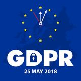 Ejemplo de regla del concepto de la protección de datos general GDPR - 25 de mayo de 2018 libre illustration