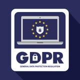 Ejemplo de regla del concepto de la protección de datos general GDPR - 25 de mayo de 2018 ilustración del vector