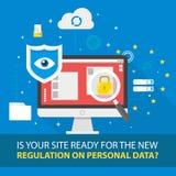 Ejemplo de regla del concepto de la protección de datos general GDPR - 25 de mayo de 2018 Imagen de archivo libre de regalías