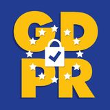 Ejemplo de regla del concepto de la protección de datos general GDPR - 25 de mayo de 2018 Fotografía de archivo