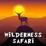 Ejemplo de Safari Shows Adventure Tour 3d del desierto ilustración del vector
