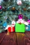 Ejemplo de Santa Claus en un trineo con el reno Fotografía de archivo libre de regalías