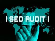 Ejemplo de Seo Audit Website Ranking Assessment 3d ilustración del vector