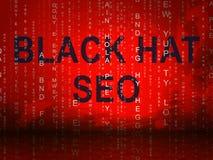 Ejemplo de Seo Website Optimization 3d del sombrero negro libre illustration