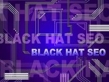 Ejemplo de Seo Website Optimization del sombrero negro 2.o ilustración del vector