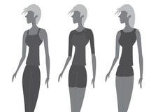 Ejemplo de señora Chic Fashion Vector Imagenes de archivo