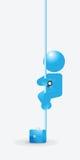Ejemplo de Sliding Down Pole del hombre de negocios Imágenes de archivo libres de regalías