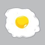 Ejemplo de Sunny Side Up Egg Vector Imágenes de archivo libres de regalías