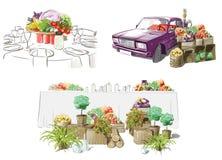 Ejemplo de tablas festivas Imágenes de archivo libres de regalías