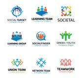 Ejemplo de Team Design de las muchedumbres Imagen de archivo libre de regalías