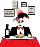 Ejemplo de un artista hambriento que mira trastorno libre illustration
