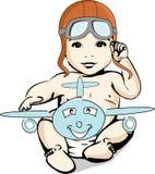 Ejemplo de un aviador del aventurero del bebé Fotos de archivo