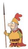 Ejemplo de un caballero de la historieta Imagen de archivo libre de regalías