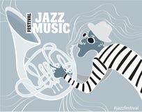 Ejemplo de un cartel del jazz Imágenes de archivo libres de regalías