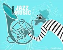 Ejemplo de un cartel del jazz Fotografía de archivo libre de regalías