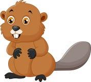 Ejemplo de un castor en un fondo blanco stock de ilustración