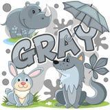Ejemplo de un color gris Imagen de archivo libre de regalías
