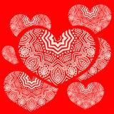 ejemplo de un corazón y de un ornamento Fotos de archivo libres de regalías