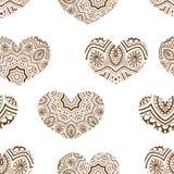 ejemplo de un corazón y de un ornamento Fotografía de archivo