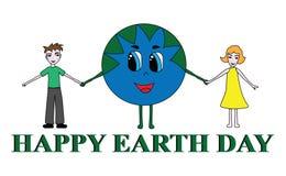 Ejemplo de un Día de la Tierra feliz Imagenes de archivo