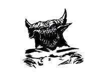Ejemplo de un demonio o cualesquiera vidas dentro de nosotros libre illustration