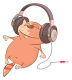 Ejemplo de un gato lindo Personaje de dibujos animados Imagen de archivo