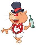 Ejemplo de un gato lindo Personaje de dibujos animados Fotografía de archivo