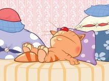 Ejemplo de un gato lindo Personaje de dibujos animados Foto de archivo libre de regalías