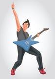 Ejemplo de un guitarrista Foto de archivo libre de regalías