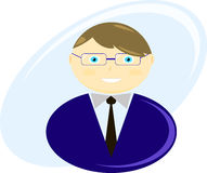 Ejemplo de un hombre de negocios Imagen de archivo