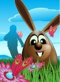 Conejo y huevos de Pascua Fotografía de archivo