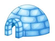 Ejemplo de un iglú aislado en blanco ilustración del vector