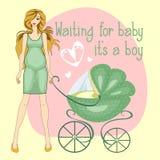 Ejemplo de un niño del muchacho de la muchacha que espera embarazada para Fotografía de archivo libre de regalías