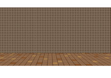 Ejemplo de un piso tradicional viejo de la cocina y de una pared tejada Fotografía de archivo libre de regalías