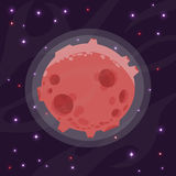 Ejemplo de un planeta de la historieta Stock de ilustración