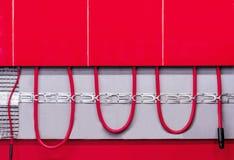 Ejemplo de un sistema de calefacción de piso Concepto de un sistema caliente del piso fotografía de archivo libre de regalías