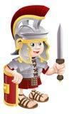 Soldado romano con la espada Foto de archivo libre de regalías