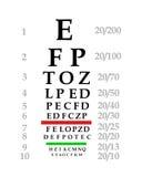 Carta de ojo Foto de archivo libre de regalías