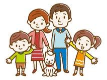 Ejemplo de una familia feliz libre illustration